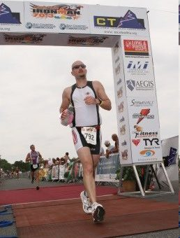 Kevin Half-Ironman Finish